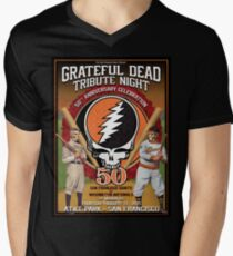 Grateful Dead Tribute Night San Francisco Giants  Men's V-Neck T-Shirt