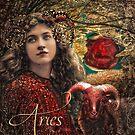 Art Nouveau Zodiac Aries by mindydidit