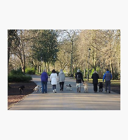 Dogwalkers Photographic Print