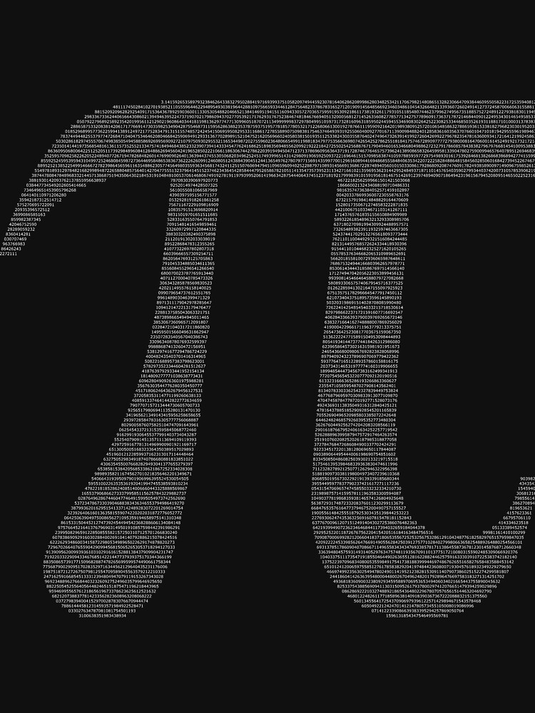 The Letter Pi Containing the Value of Pi by joehx