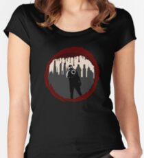 Zombie Control (Shooter) Women's Fitted Scoop T-Shirt
