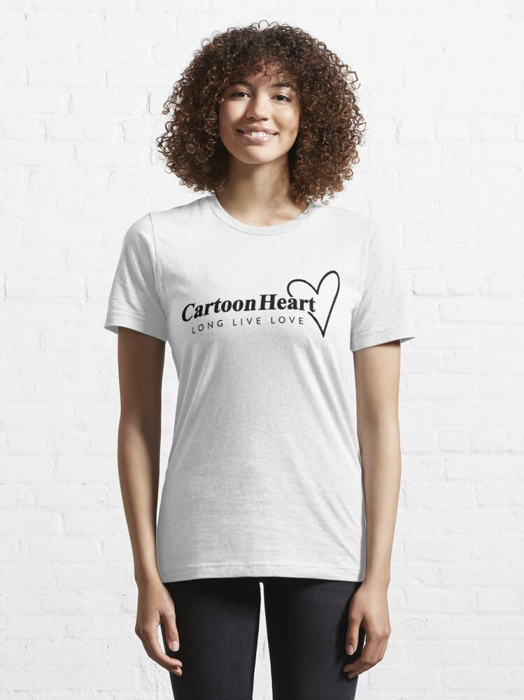 Alternate view of Cartoon Heart Logo - T-Shirt (Light Background) Essential T-Shirt