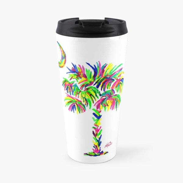 South Carolina is Simply Amazing Palm Tree Travel Mug