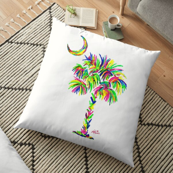 South Carolina is Simply Amazing Palm Tree Floor Pillow