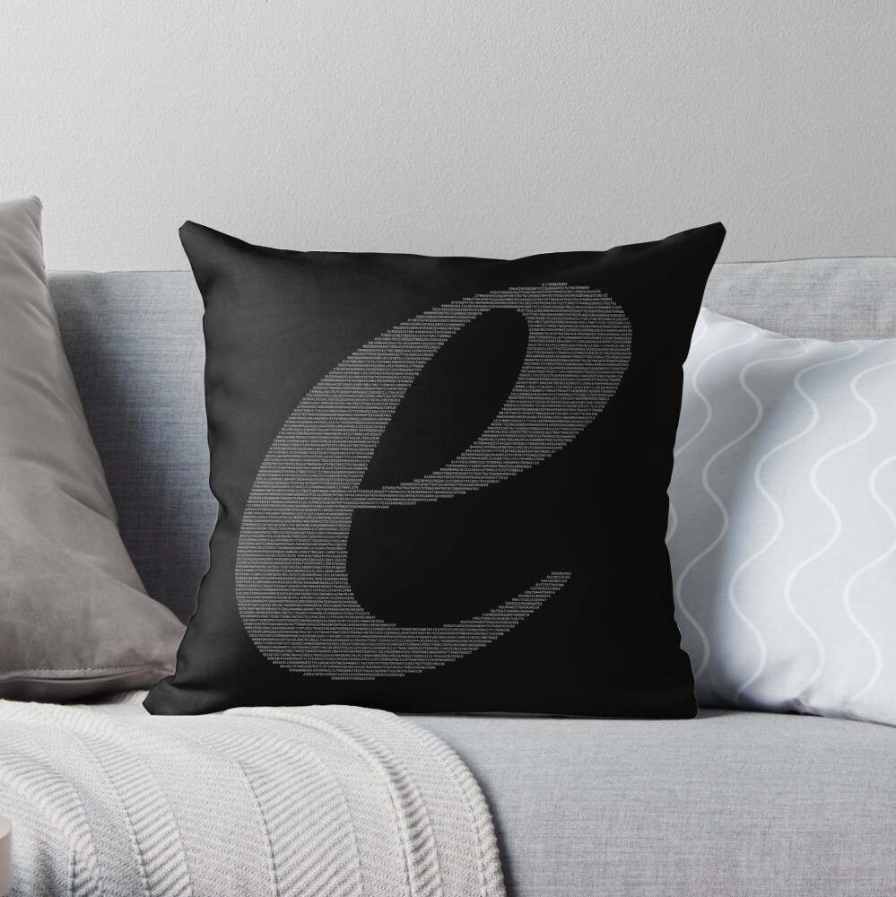 Euler's Number the Letter e & the Value of e Throw Pillow