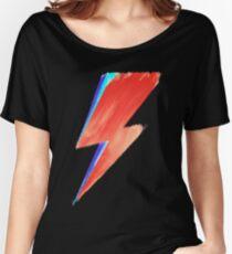 Camiseta ancha para mujer David Bowie Lightning
