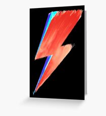 David Bowie Lightning Greeting Card