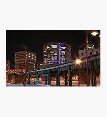 Downtown Winnipeg @ night #2 Photographic Print