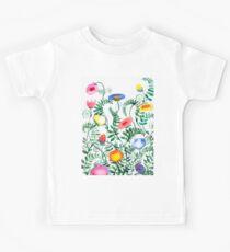 beautiful illustration of Hand Painted flower Wild  Kids Tee