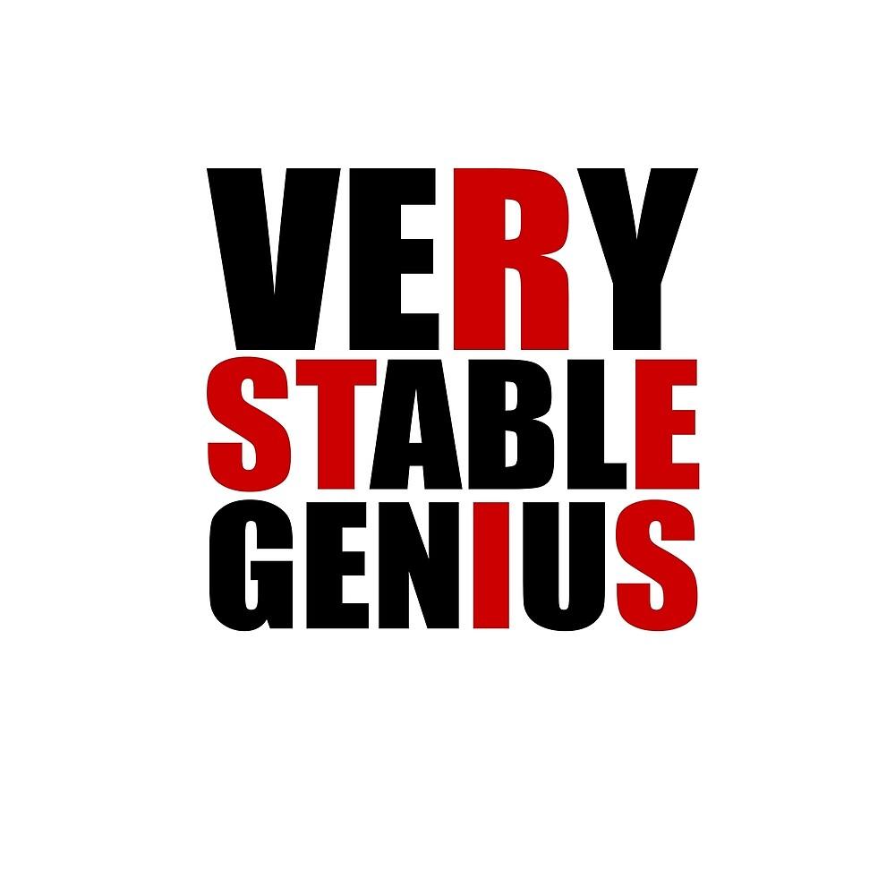 VERY STABLE GENIUS RESIST red black by starkle