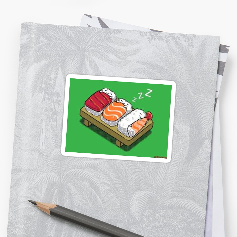 cute sushi sticker by loringik