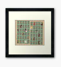 stampshash Framed Print