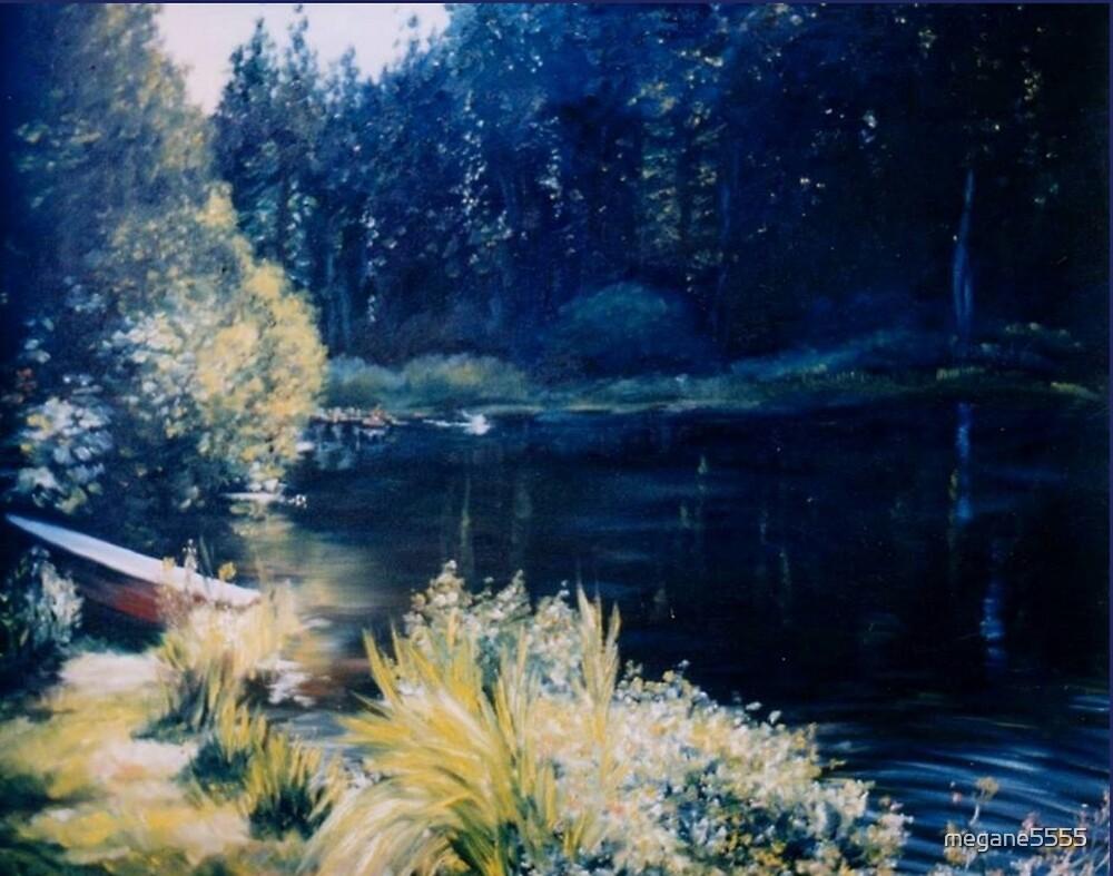 Landscape. The Rowboat by megane5555