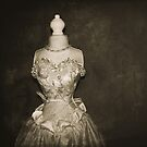 her wedding gown by Angel Warda