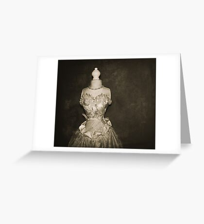 her wedding gown Greeting Card