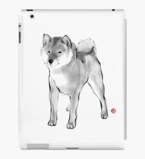 Handsome Shiba Inu card,Animal illustration Sumi-e Painting B&W Asian Japanese Zen theme Dog iPad Case/Skin