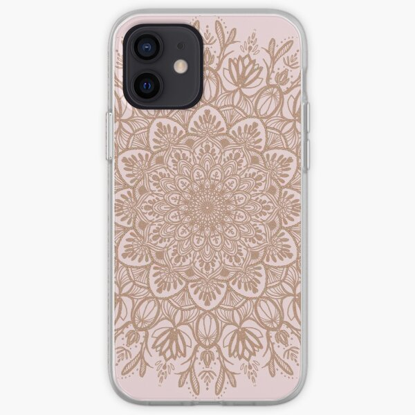 Rose Gold Beige Mandala iPhone Soft Case
