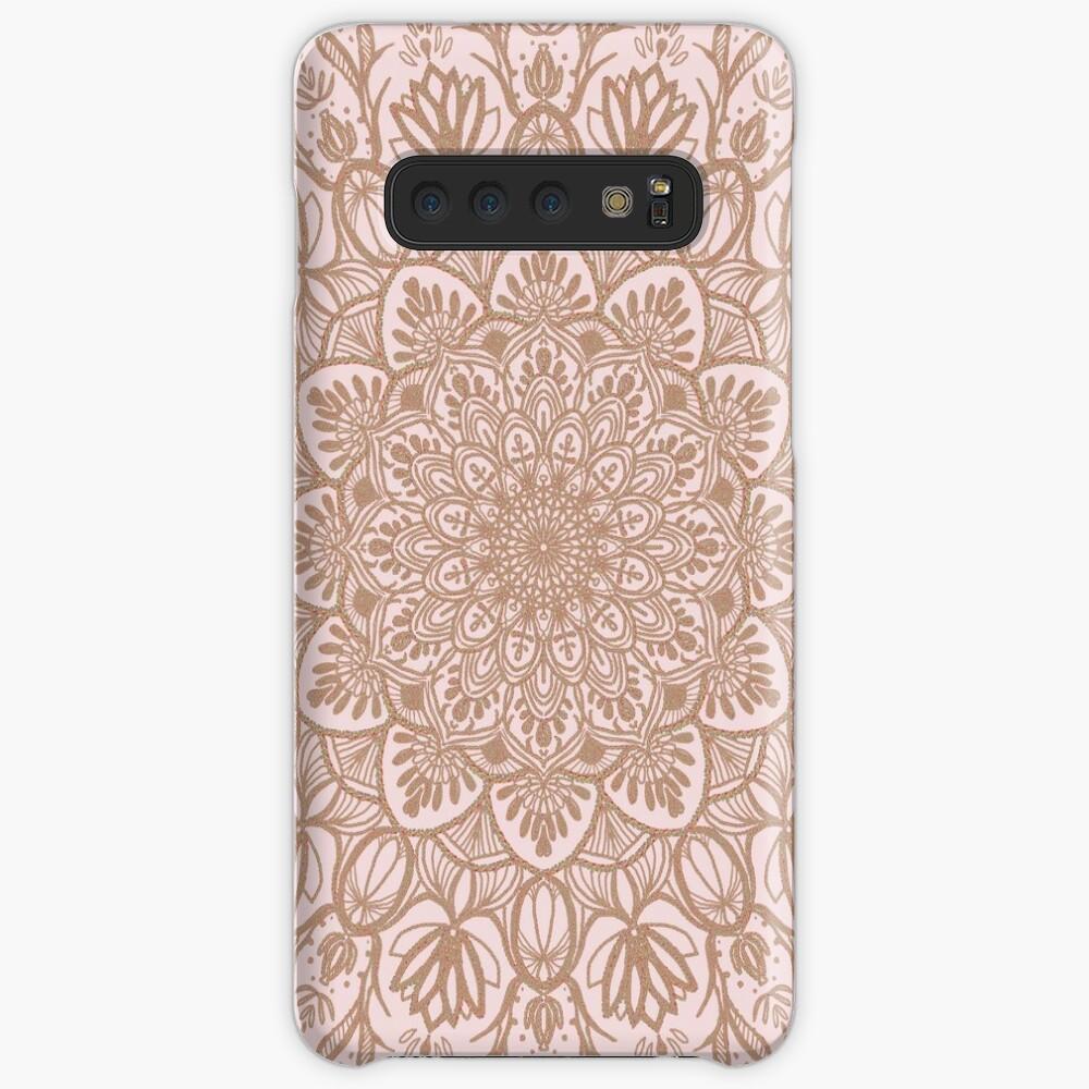 Rose Gold Beige Mandala Case & Skin for Samsung Galaxy