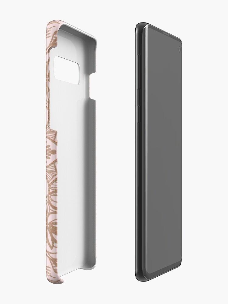 Alternate view of Rose Gold Beige Mandala Case & Skin for Samsung Galaxy