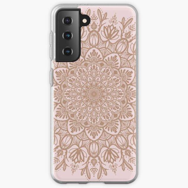 Rose Gold Beige Mandala Samsung Galaxy Soft Case
