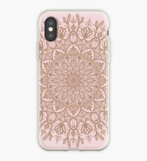 Rose Gold Beige Mandala iPhone Case