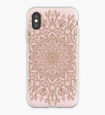 Vinilo o funda para iPhone Rose Gold Beige Mandala