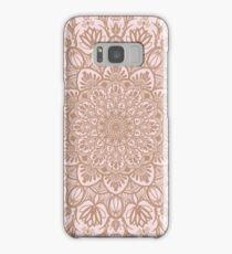 Rose Gold Beige Mandala Samsung Galaxy Case/Skin