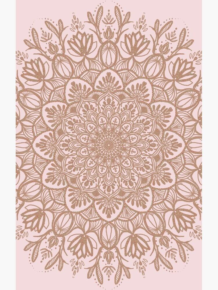 Rose Gold Beige Mandala by artbysavi