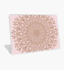 Rose Gold Beige Mandala Laptop Skin