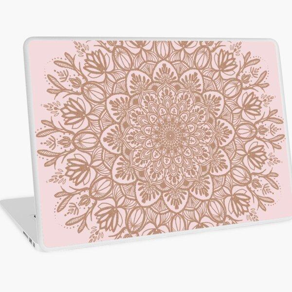 Rose Gold Beige Mandala Laptop Skin