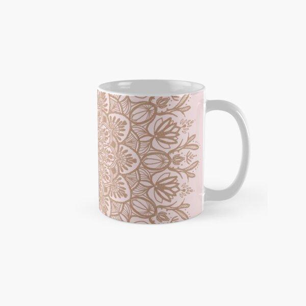Rose Gold Beige Mandala Classic Mug
