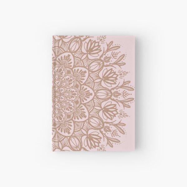 Rose Gold Beige Mandala Hardcover Journal
