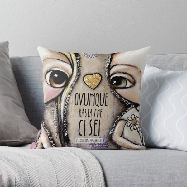 Child Lovers with big eyes Throw Pillow