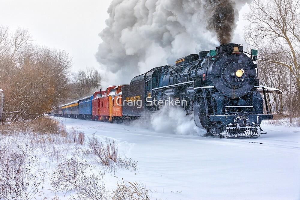 North Pole Express (Steam engine Pere Marquette 1225) by Craig Sterken