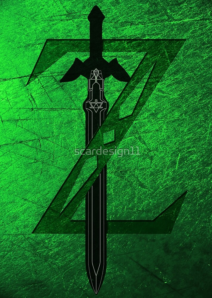Zelda Sword Green Poster by scardesign11