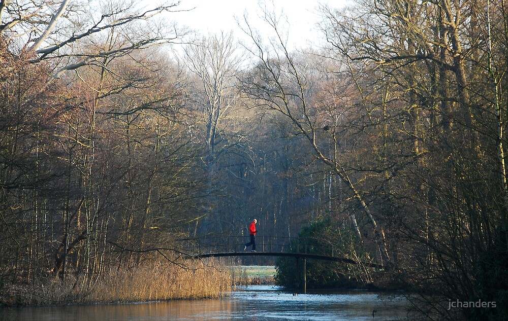 Crossing the December morning bridge by jchanders