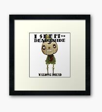 Pinocchio Walking Dread Zombie Humor Framed Print