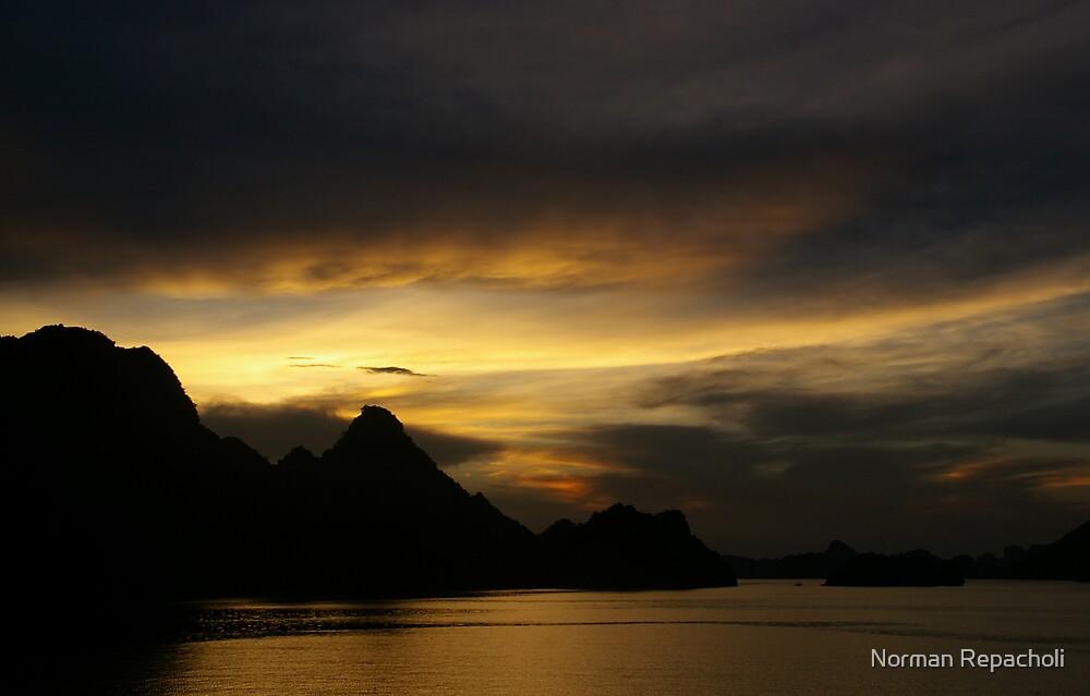 HaLong Sunset by Norman Repacholi