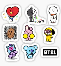 Bt21 Stickers Redbubble