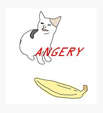 ANGERY BANANA BOI (CAT) Photographic Print