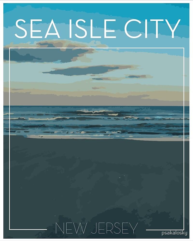 Sea Isle City Travel Poster by psakalosky