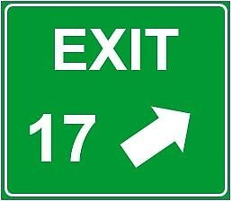 Exit 17 Sign by Haleyg113