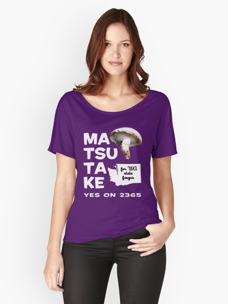 Matsutake for WA State Fungus Women's Relaxed Fit T-Shirt Front