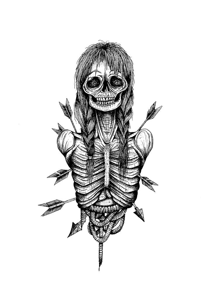 Zombie girl by dracuria
