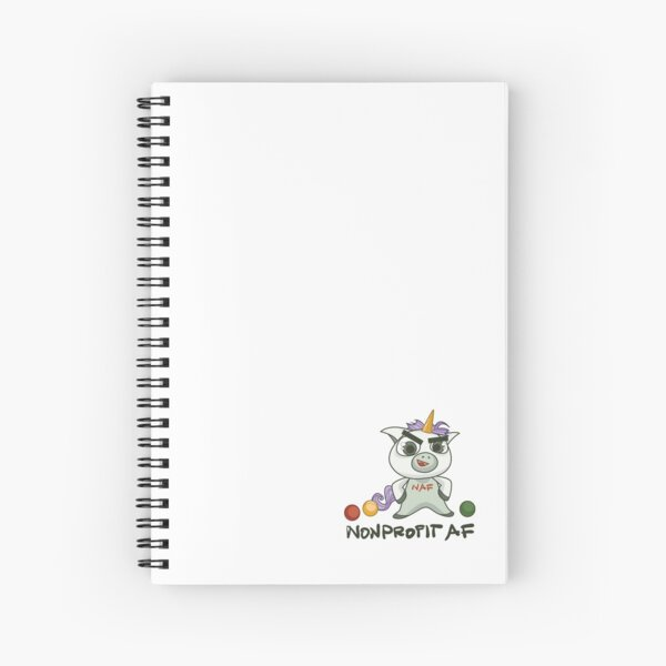 The Nonprofit AF Line — Because You Are A Unicorn Spiral Notebook