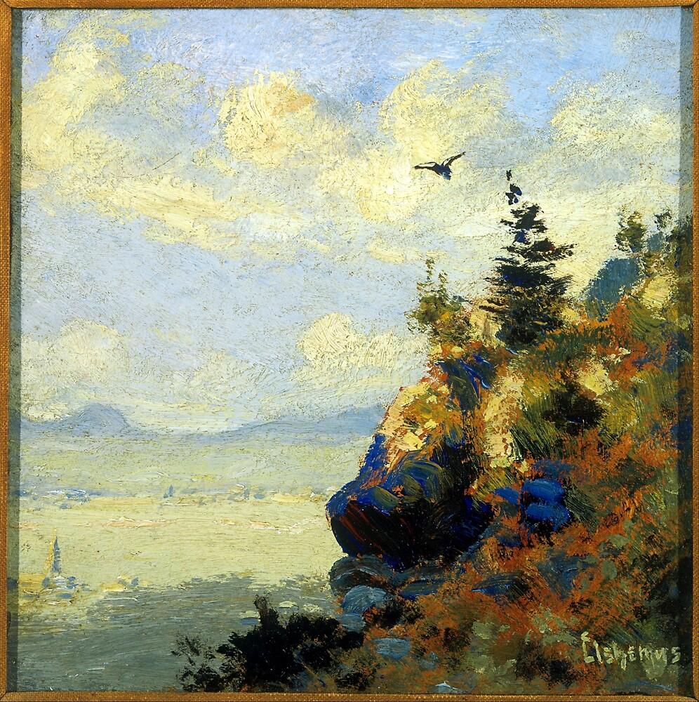 Louis Eilshemius Summer Landscape with Hawk by pdgraphics