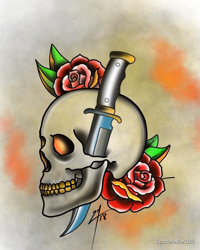 Skull and dagger by Spadeballer138