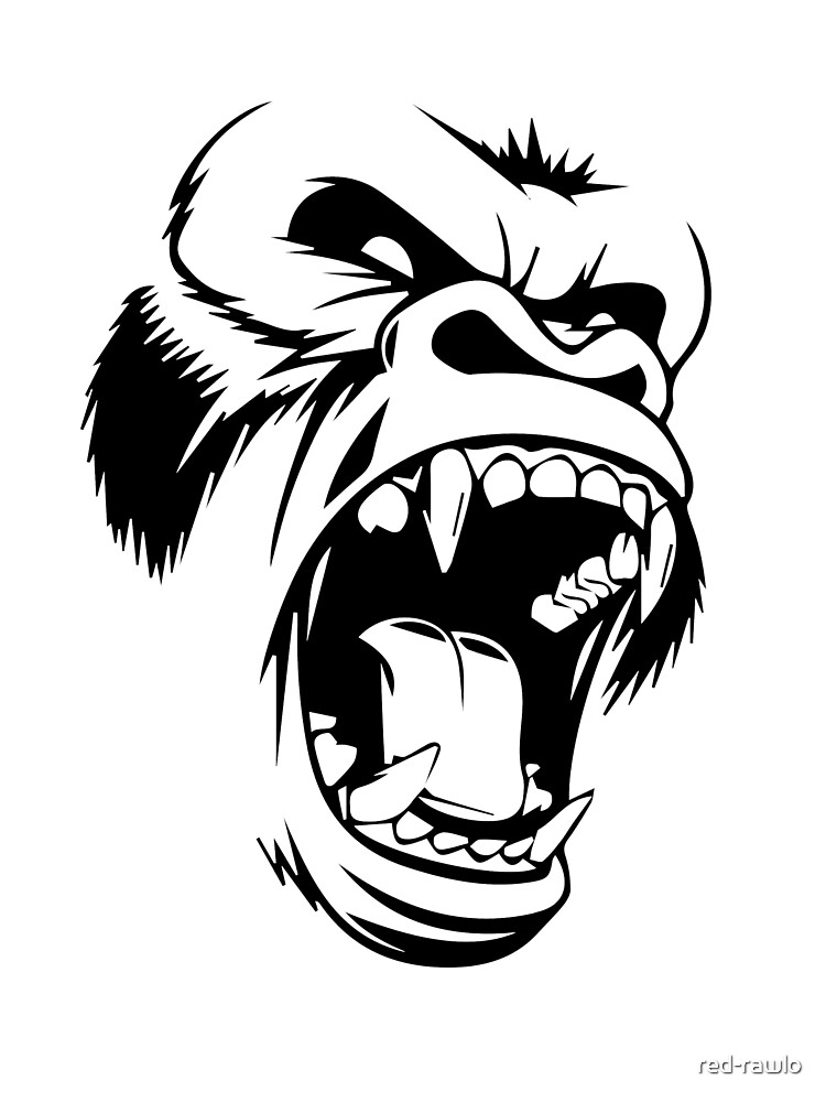 Angry Baboon by red-rawlo