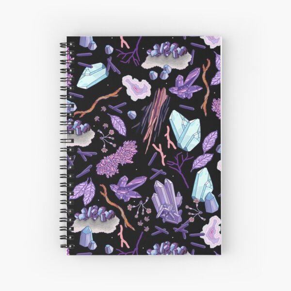 Crystals and stones Spiral Notebook