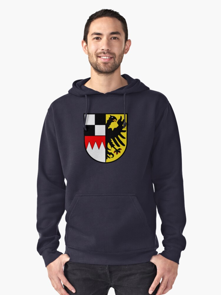 Middle Franconia coat of arms, Germany Pullover Hoodie Front